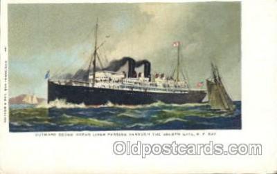 shi008993 - Passing the Goldern Gate, S.F.,USA Steamer Ship Ships Postcard Postcards