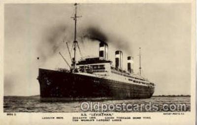 shi009027 - S.S. Leviathan, United States Line Postcard Postcards