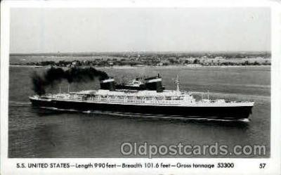 shi009028 - S.S. United States Ship Ships Postcard Postcards