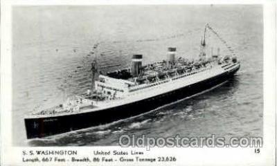 shi009038 - S.S. Washington Ship Ships Postcard Postcards