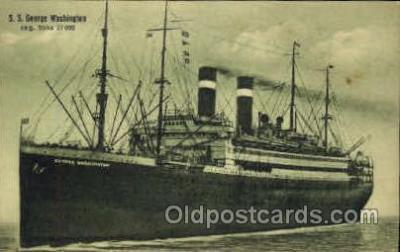 shi009042 - S.S. George Washington Ship Ships Postcard Postcards