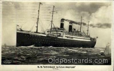 shi009047 - S.S. George Washington Ship Ships Postcard Postcards