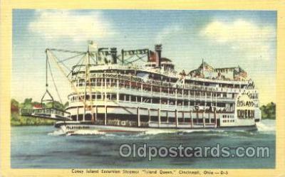 shi009078 - Steamer Island Queen Steamer Ship Ships Postcard Postcards
