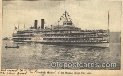 shi009090 - Str. Hendrick Hudson Steamer Ship Ships Postcard Postcards