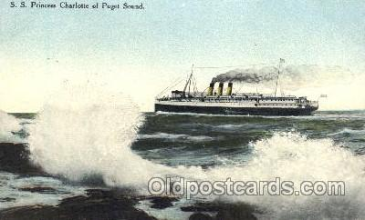 shi009101 - S.S. Princess Charlotte Steamer Ship Ships Postcard Postcards