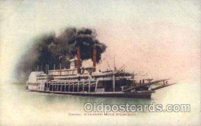 shi009106 - Mississippi River Steamboat Steamer Ship Ships Postcard Postcards