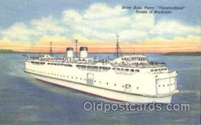 shi009117 - State Auto Ferry Vacationland Steamer Ship Ships Postcard Postcards