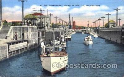 shi009125 - Government Locks Steamer Ship Ships Postcard Postcards