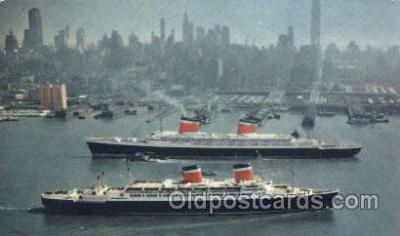 shi009128 - S.S. United States & S.S. America Steamer Ship Ships Postcard Postcards