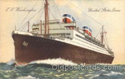 shi009133 - S.S. Washington United States Line, Lines, Ship Ships Postcard Postcards