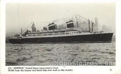 shi009139 - S.S. America United States Line, Lines, Ship Ships Postcard Postcards