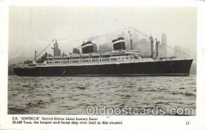 shi009140 - S.S. America United States Line, Lines, Ship Ships Postcard Postcards