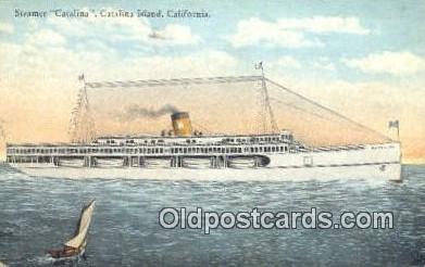 shi009157 - Steamer Catalina, Catalina Island, California, CA USA Steam Ship Postcard Post Card