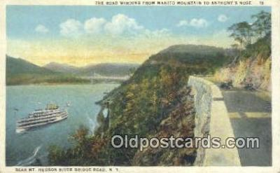 shi009163 - Bear Mountain And The Hudson River Bridge, New York , NY USA Steam Ship Postcard Post Cards