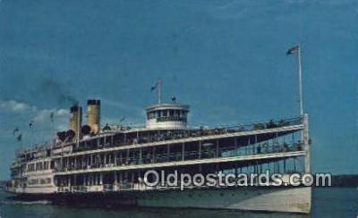 shi009164 - Alexander Hamilton, Hudson River Line Ship, Newburgh, New York, NY USA Steam Ship Postcard Post Cards