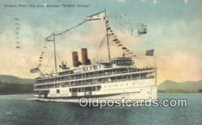shi009170 - Hudson River Day Line Steamer, DeWitt Clinton, New York , NY USA Steam Ship Postcard Post Cards