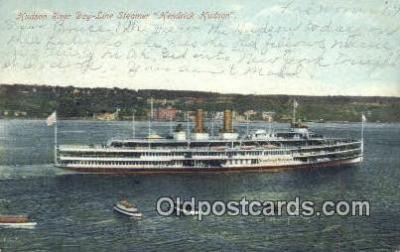shi009175 - Hudson River Day Line Steamer, Hendricks Hudson, New York, NY USA Steam Ship Postcard Post Card