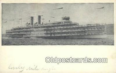 shi009180 - Hudson River Day Line Steamer, Hendricks Hudson, New York, NY USA Steam Ship Postcard Post Card