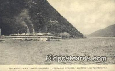 shi009181 - Hudson River Day Line Steamer, Hendricks Hudson, New York, NY USA Steam Ship Postcard Post Card