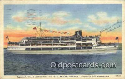 shi009185 - Americas Finest Streamliner The SS Mount Vernon, Washington, DC USA Steam Ship Postcard Post Cards