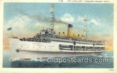 shi009194 - Str. Catalina, Catalina Island, California, CA USA Steam Ship Postcard Post Card