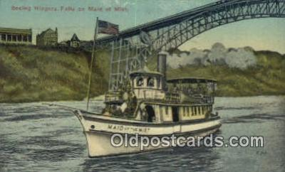 shi009204 - Seeing Niagara Falls On The Maid Of The Mist, New York, NY USA Steam Ship Postcard Post Cards