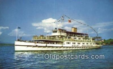 shi009209 - The Motor Vessel Mount Washington, Lake Winnipesaukee, New Hampshire, NH USA Steam Ship Postcard Post Cards