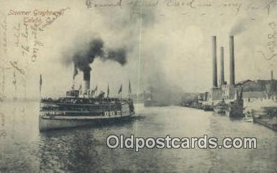 shi009219 - Steamer Greyhound, Toledo, Ohio, OH USA Steam Ship Postcard Post Cards