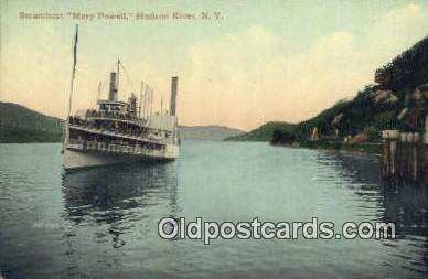 shi009234 - Steamboat Mary Powell, Hudson River, New York, NY USA Steam Ship Postcard Post Cards