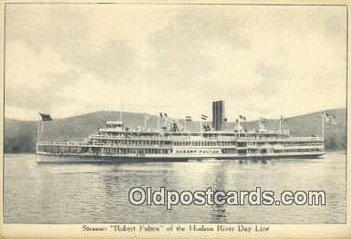 shi009237 - Steamer Robert Fulton, Hudson River, New York, NY USA Steam Ship Postcard Post Cards