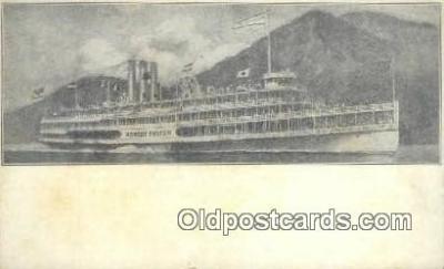 shi009241 - Steamer Robert Fulton, Hudson River, New York, NY USA Steam Ship Postcard Post Cards