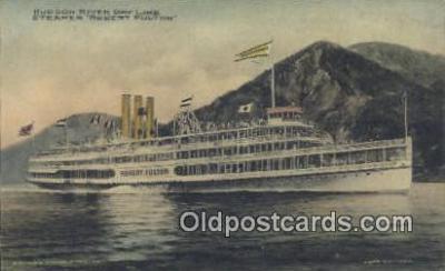 shi009243 - Hudson River Day Line, Robert Fulton, New York, NY USA Steam Ship Postcard Post Cards