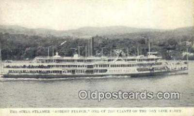 shi009244 - The Steel Steamer, Robert Fulton, New York, NY USA Steam Ship Postcard Post Cards