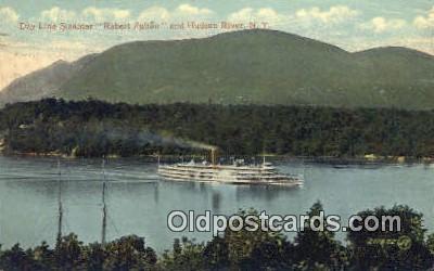 shi009245 - Day Line Steamer Robert Fulton, Hudson, River, NY USA Steam Ship Postcard Post Cards