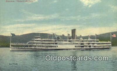 shi009246 - Steamer Robert Fulton, Hudson River, New York, NY USA Steam Ship Postcard Post Cards