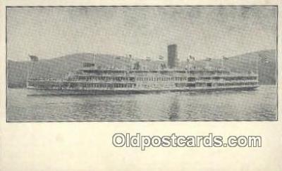 shi009248 - Steamer Robert Fulton, Hudson River, New York, NY USA Steam Ship Postcard Post Cards