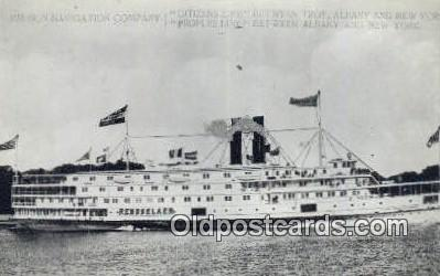 shi009254 - Hudson Navigation Company, Citizens Line And Peoples Line, Albany, New York, NY USA Steam Ship Postcard Post Cards