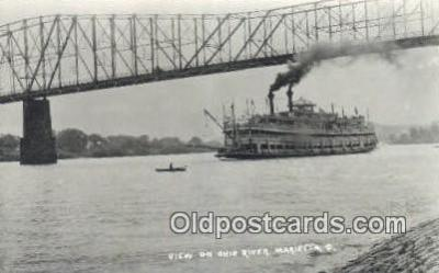 shi009255 - Real Photo, Marietta, Ohio, OH USA Steam Ship Postcard Post Cards