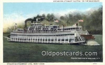 shi009256 - Excursion Steamer Capitol on the Mississippi Steam Ship Postcard Post Cards