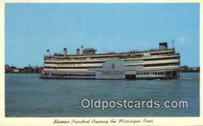 shi009257 - Steamer President, Cruising On The Mississippi River Steam Ship Postcard Post Cards