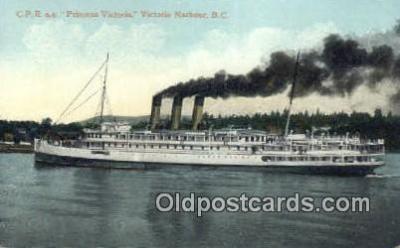 shi009258 - Steamer SS Princess Victoria, Victoria Harbor, British Columbia, BC  Steam Ship Postcard Post Cards