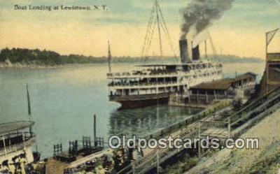 shi009269 - Boat Landing, At Lewiston, New York, NY USA Steam Ship Postcard Post Cards