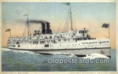 shi009271 - Steam Ship Belfast, Eastern Steamship Corporation Steam Ship Postcard Post Cards