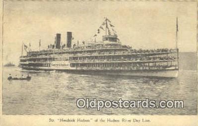 shi009278 - Steamer Hendricks Hudson, New York, NY USA Steam Ship Postcard Post Cards