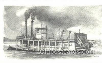 shi009282 - The Riverboat Klondike, Wheeling, West Virginia, VA USA Steam Ship Postcard Post Cards