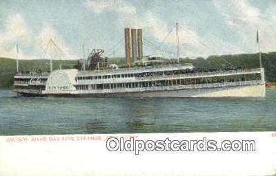 shi009285 - Hudson River Day Line Steamer, New York, NY USA Steam Ship Postcard Post Cards