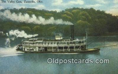 shi009290 - Valley Gem Paddle Wheel Steamer, Harmar, Ohio, OH USA Steam Ship Postcard Post Cards