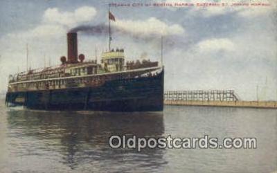 shi009296 - Steamer City Of Benton Harbor, St Joseph Harbor Steam Ship Postcard Post Cards