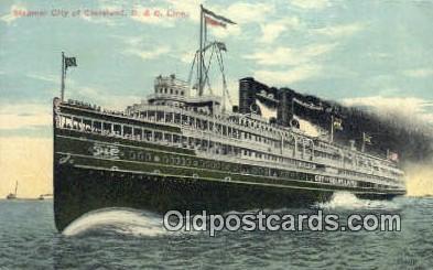 shi009302 - Steamer City Of Cleveland D&C Line Steam Ship Postcard Post Cards