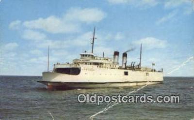 shi009305 - The City Of Munising, Blaney Park, Michigan, MI USA Steam Ship Postcard Post Cards